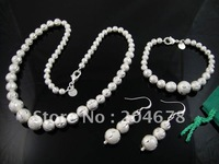 Classiclook New  Women's Beads Chain 925 Sterling Siler Neacklace Bracelet & Earring Sets