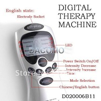 Wholesale 10pcs/Lot Tens Acupuncture Digital Therapy Machine Massager free shipping