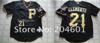 Free Shipping !! Pittsburgh Pirates #21 Roberto Clemente gray Baseball jersey 48-56 mix order