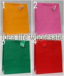50pcs/lot 26*13.5*32cm paper gift bag paper bag paper shopping bag(China (Mainland))