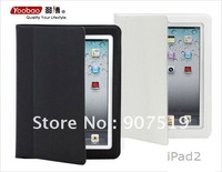 free shipping Slim protect cover Case for iPad 2 ,for ipad2 leather case