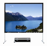 "120""16:9 fast fold screen with front and rear fabric with flycase"