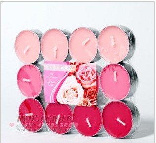 7374 * 8 birthday party romantic cook tea fragrant incense burners wedding smoke-free scented candle 12 outfit(China (Mainland))