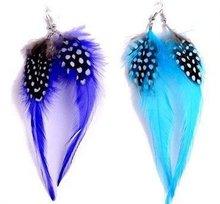 Fashion Feather Earring,Fashion Jewelry,Women Earring,24pcs/lot,2color mix(China (Mainland))