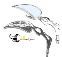 CHROME BIKE MOTORCYCLE MIRRORS Pair For Hond a