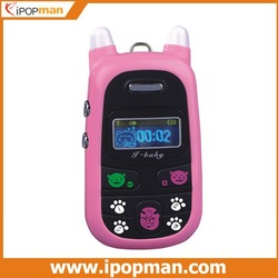 Low Radiation A88 Child mobile phone in pink+black color, SOS children mobile, kids cell phone, Free Shipping(China (Mainland))
