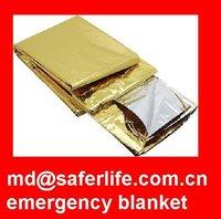 rescue blanket Emergency Thermal Blankets Travel blanket Gold+silver