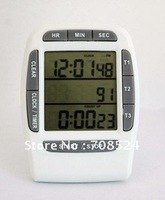 Free shipping 3 groups timer Large LCD Digital Stopwatch Chronograph Interval Timer