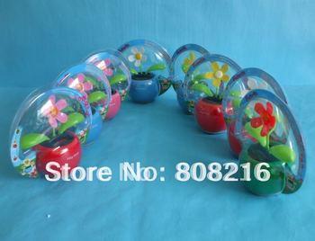 B 11pcs /lot free shipping flip flap solar flower,solar toy,swing flower