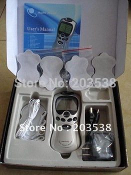 With Retail Box 4pcs/lot Tens/Acupuncture/Digital Therapy Machine Massager electronic pulse massager health care equipment