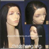 100% human hair fashion pretty brazilian remy hair yaki glueless full lace wig with baby hair for woman