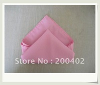 polyester plain napkin pink color  for wedding/napkins