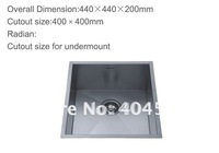 Single Bowl Square Stainless Steel Sink Kitchen Sink Basin 5910