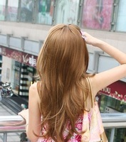 Beautiful Style,mix  human hair , Full lace wig,human hair wig,long body wave,Free Shipping