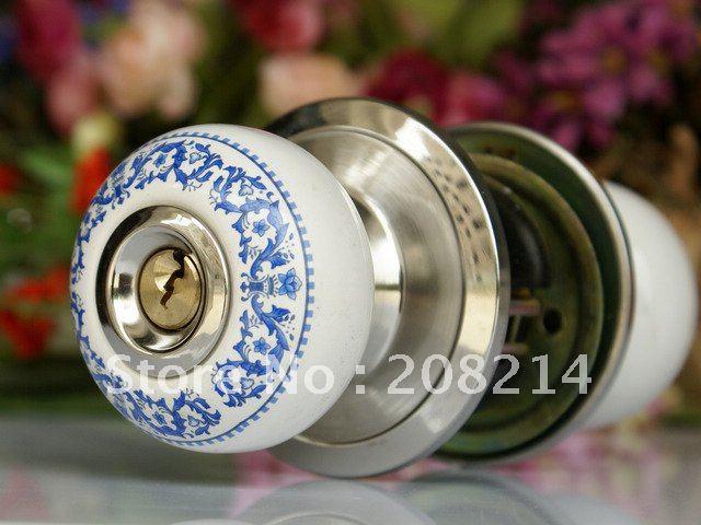 free shipping household use ceramic knob door lock replacement lock/ livingroom lock(China (Mainland))