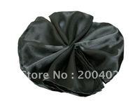 plain satin napkin black color  for wedding/napkins