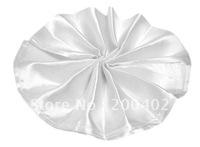 plain satin napkin white  color  for wedding/napkins