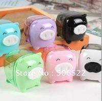 Free shipping, Pig Pencil Sharpener, Cute Pencil Cutter, Pencil knife,Cartoon Sharpener,50pcs/lot