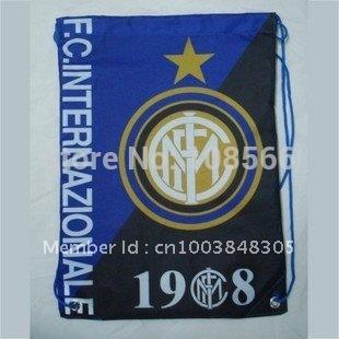 wholesale Inter milan football back pack bag /shoe bag  fashion sport backpacks