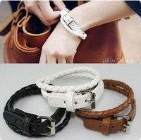Free shipping +Wholesale 30pcs/lot leather buckle bracelet star jewelry fashion bracelet