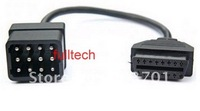 hot sale Renault 12 pin to OBD2 female Connector Adapter OBD