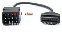 hot sale Renault 12 pin to OBD2 female Connector Adapter OBD Renault 12pin