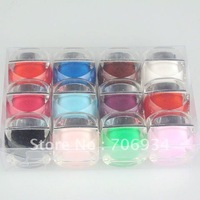 12colors/lot Color Uv Builder Gel Nail Art Easy Removal Of color Uv Gel Solid Colors Opaque 5g A2#