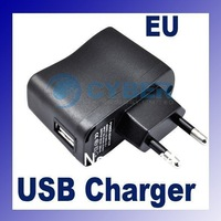 New EU Plug AC Power Supply Wall Adapter USB Charger for PDA DV Mp3 Mp4 with LED Power Indicator Wholesale