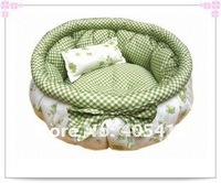 100% PP cotton cat bed. bowknot warm round dog beds size:50 +free shipping!2pcs/lot