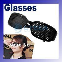 Cheap Black Unisex Vision Care Pin hole Eyeglasses pinhole Glasses Eye Exercise Eyesight Improve plastic Retail & Wholesale B19