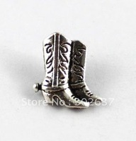FREE SHIPPING  120PCS Tibetan silver cowboy boot button beads A15357