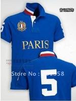 city Paris model shirt brand-new men's short sleeve shirts,100% cotton,Mix order embroidery logo blue European style