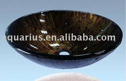Restaurant Bathroom glass vessel sink(China (Mainland))