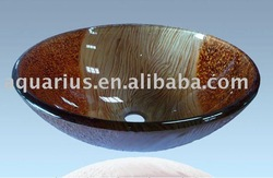Round Shape Bathroom Glass Vessel Sink(China (Mainland))