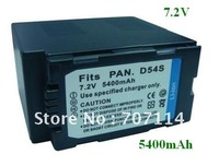 Free Shipping 1 Piece Li-ion 7.2V 5400mAh Digital Camera/Camcorder Battery for CGR-D54S AG DVC80