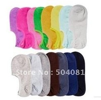 candy colors invisible socks Free shipping,ankle /floor mixed colors sox ship boat / low-cut socks