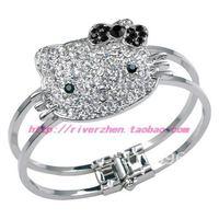 fashion HELLO KITTY Black Bow Bracelet Bangle gift+EMS free shipping