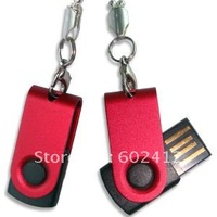 hot sell usb flash drive 4GB custom logo swivel usb stick mini model  free shipping