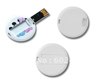 shipping free Real 2GB usb stick OEM logo printing credit card usb flash drive Round model