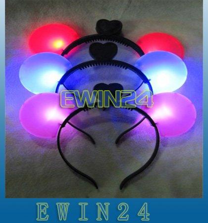 Free shipping LED Party Favor Flashing Light Up Headband Dress Up Halloween Christmas 400pcs/lots(China (Mainland))