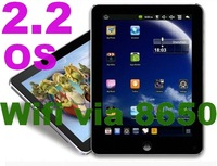 cheapest 8 inch via 8650 2.2 OS tablet pc suppport  flash 10.1 with USB adaptor