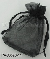 Free shipping 100pcs/lot 10*12cm black jewelry gift organza bag wedding favor pouch 3mm wide ribbon drawstring