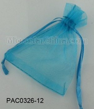 Free shipping 100pcs/lot 10*12cm turquoise jewelry organza gift bag wedding favor pouch 3mm wide ribbon drawstring