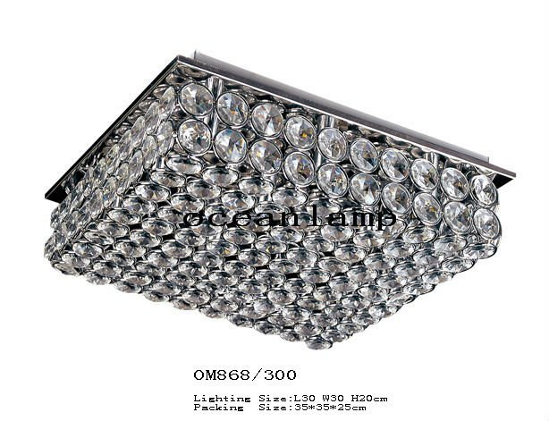 Modern crystal ceiling lamp OM868 L30 W30 H20cm(China (Mainland))