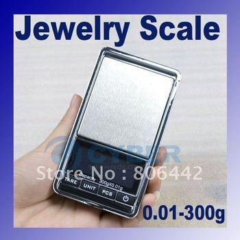 300g x 0.01g Mini Electronic Digital Jewelry Scale Balance Pocket Gram LCD Display  dropshipping
