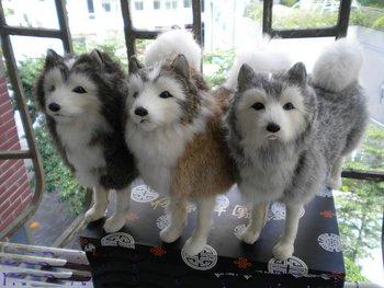 The German shepherd dog high-quality goods husky dog plush toy figures freeshipping