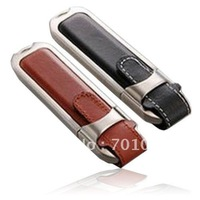 Free shipping: 50pcs/lot 4GB leather USB flash drive