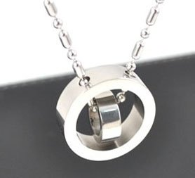 Free shipping The new hot circle titanium steel pendant,stainless steel pendant, steel pendants jewelry chain pendants necklace