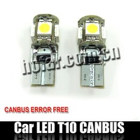 CANBUS Error-Free T10 W5W 501 194 LED Lamp HK Post Free Shipping