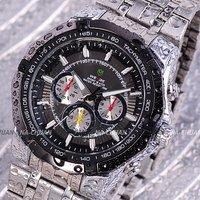 Наручные часы Hot! Mens Face Automatic Luxury Steel Wrist Watch Skeleton men's Mechanical watch Best Xmas Gift Ship